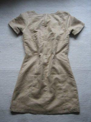 gina tricot etuikleid mini beige nude camel neuwertig gr. xs 34 wildlederoptik