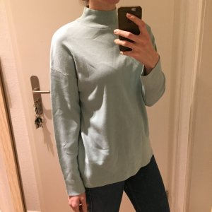 Gina Tricot gemütlicher Stehkragen Strickpulli mintgrün Neu