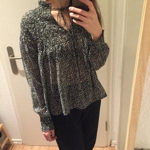 Gina Tricot gemusterte Oversize Bluse Top transparent neu!