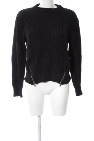 Gina Tricot Coarse Knitted Sweater black casual look