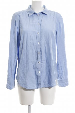 Gina Tricot Hemd-Bluse blau Business-Look
