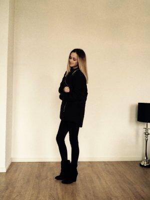 Gina Tricot Jacke Mantel Schwarz Daunen XS 34 Blogger