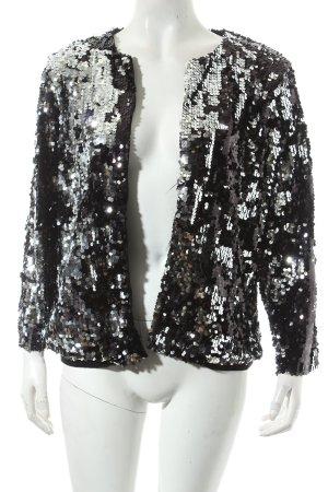 Gina Tricot Jacke schwarz-silberfarben extravaganter Stil