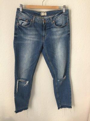 Gina Tricot Jeans mit Rissen Blau