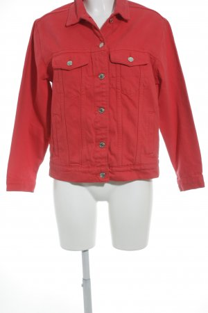 "Gina Tricot Jeansjacke ""Rose Denim Jacket"" rot"