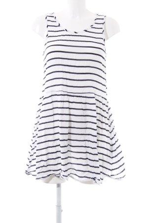 Gina Tricot Jerseykleid weiß-anthrazit Streifenmuster Casual-Look