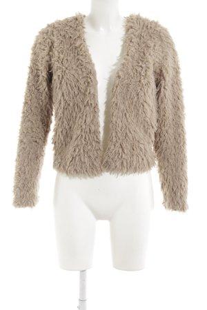 Gina Tricot Kunstfelljacke beige Casual-Look
