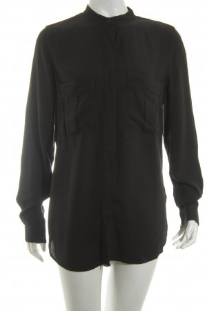 Gina Tricot Langarm-Bluse schwarz Casual-Look