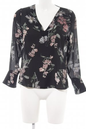 Gina Tricot Langarm-Bluse Blumenmuster Casual-Look