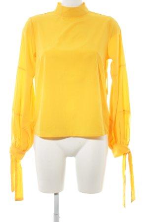 Gina Tricot Langarm-Bluse hellorange Business-Look