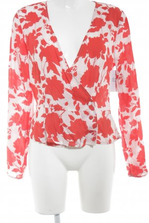 Gina Tricot Langarm-Bluse rot-rosé Allover-Druck Casual-Look