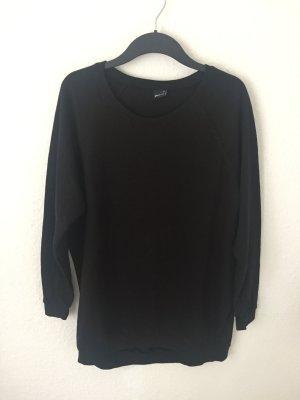 Gina Tricot langes Sweatshirt Schwarz