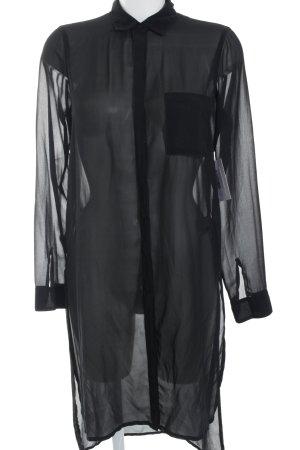 Gina Tricot Long-Bluse schwarz minimalistischer Stil