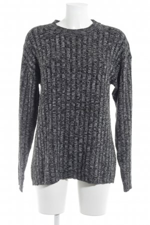 Gina Tricot Longpullover schwarz-hellgrau meliert Casual-Look
