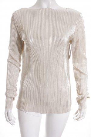 Gina Tricot Longsleeve silberfarben-nude Street-Fashion-Look