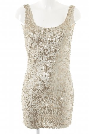 Gina Tricot Minikleid creme-goldfarben Party-Look