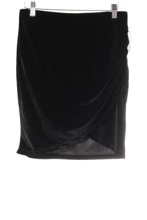 Gina Tricot Minirock schwarz Schimmer-Optik