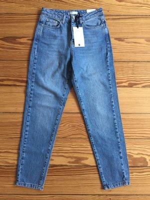 "Gina Tricot Mom Jeans ""Iris"" Mid-Blue Vintage-Look  34 - NEU"