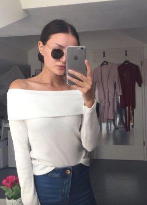 Gina Tricot T-shirts en mailles tricotées blanc