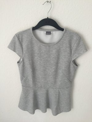 Gina Tricot Peplum Shirt Grau