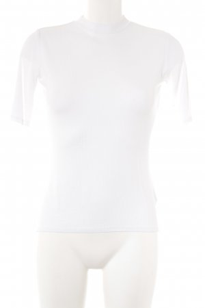 Gina Tricot Ribbed Shirt white casual look