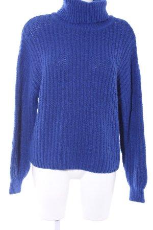 Gina Tricot Rollkragenpullover blau schlichter Stil