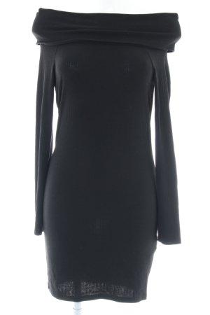 Gina Tricot Off-The-Shoulder Dress black biker look