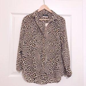 Gina Tricot Seidenbluse Leopardenmuster 100% Seide Silk Bluse Blouse Premium Quality