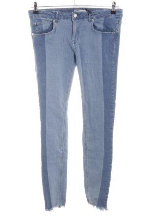 Gina Tricot Skinny Jeans blassblau-graublau Destroy-Optik