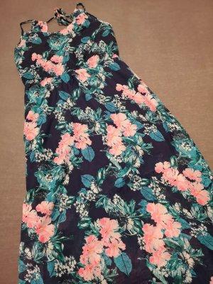 Gina Tricot Sommerkleid – Dunkelblau mit floraler Musterung