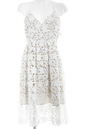 Gina Tricot Spitzenkleid weiß-beige Romantik-Look