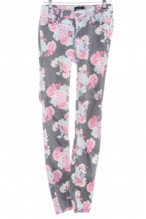 Gina Tricot Stoffhose Blumenmuster Casual-Look