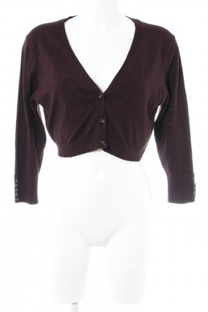 Gina Tricot Knitted Bolero blackberry-red casual look