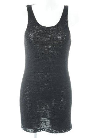 Gina Tricot Vestido tejido negro modelo de punto flojo Estilo playero e1e42f5d0a35