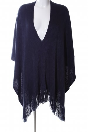 Gina Tricot Knitted Poncho blue casual look