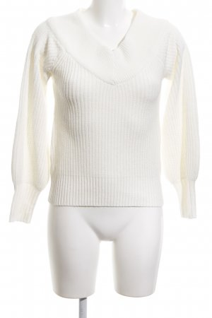 Gina Tricot Strickpullover weiß Casual-Look
