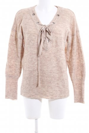 Gina Tricot Strickpullover nude meliert Casual-Look