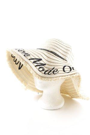 Gina Tricot Cappello di paglia crema stile spiaggia