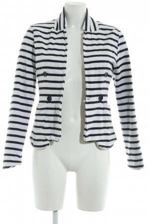 Gina Tricot Sweat Blazer white-dark blue striped pattern casual look
