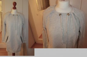Gina Tricot Sweatkleid Sweater Sweat grau M Leder Hipster Swag Blogger Oversize