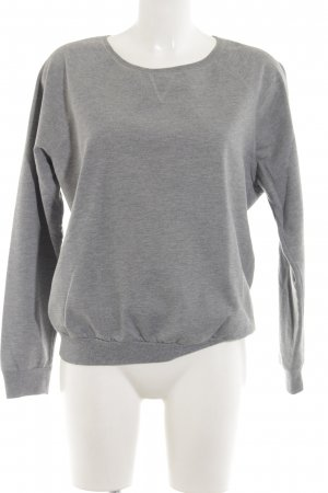 Gina Tricot Sweatshirt gris clair moucheté style simple