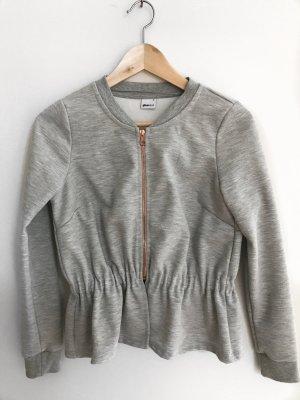 Gina Tricot sweatshirt Jacke grau