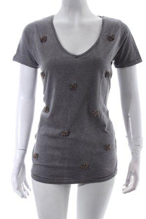 Gina Tricot T-Shirt grau Urban-Look