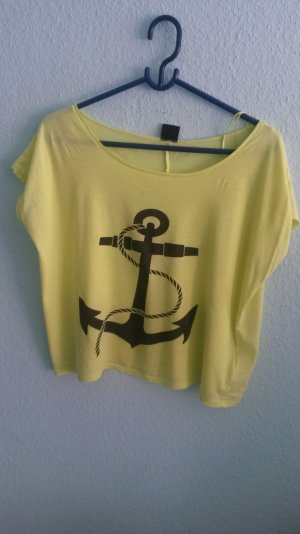 Gina tricot top Neon gelb Anker