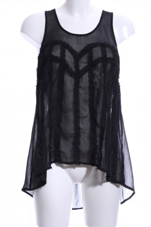Gina Tricot Transparent Blouse black casual look