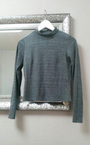 Gina Tricot Tutle Neck Pullover Shirt Oberteil Dunkelgrau Gr. S