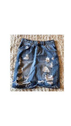 Gina Tricot Gonna di jeans azzurro-grigio chiaro