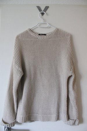 gina tricot weißer oversize Pullover Grobstrickpollover