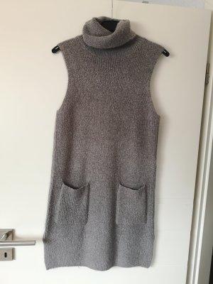 Gina Wollkleid Rollkragen Kleid 36 grau Winterkleid