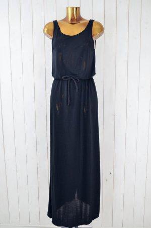 GINATRICOT Kleid Sommerkleid Trägerkleid Jersey Maxikleid Schwarz Gürtel Gr. S